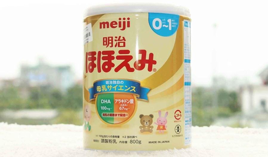 Sữa Meiji phf hợp với trẻ sơ sinh
