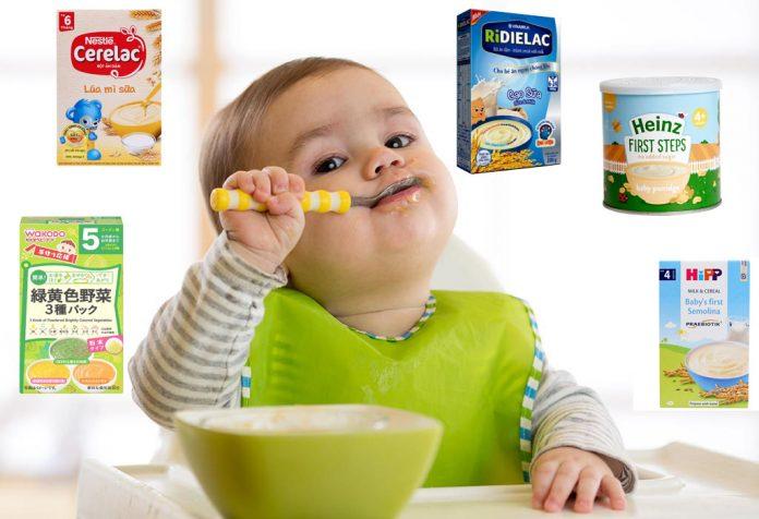 #10 loại bột ăn dặm giúp bé tăng cân