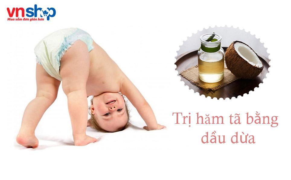 Những chú ý khi trị hăm tã bằng dầu dừa