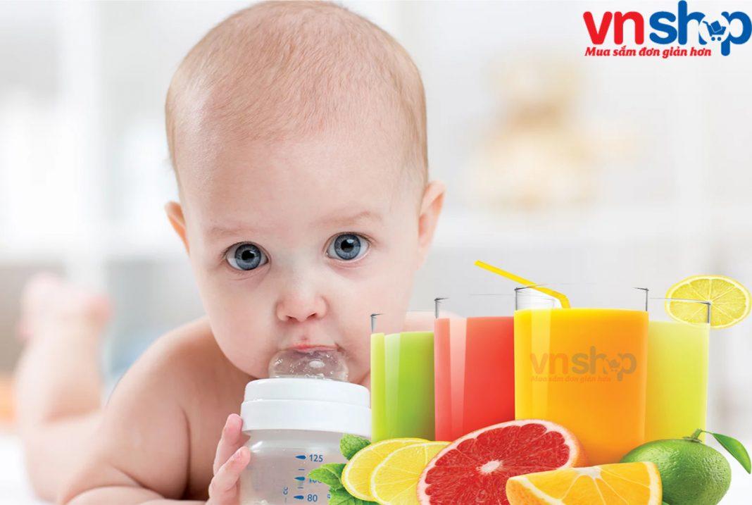 Cách làm nước ép trái cây cho bé - Cover