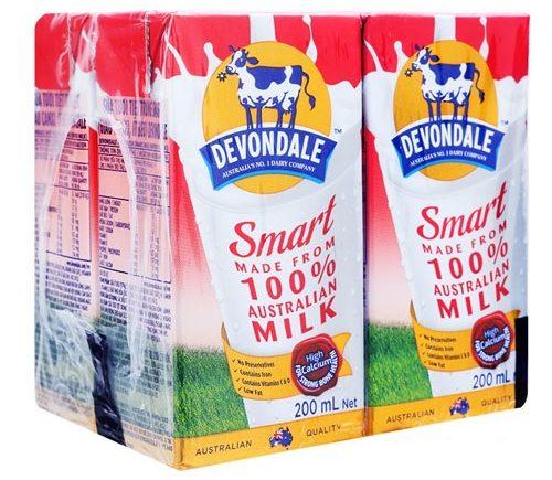 Sữa tươi không đường tách béo Devondale Smart đem tới chất dinh dưỡng và vị ngon đặc biệt
