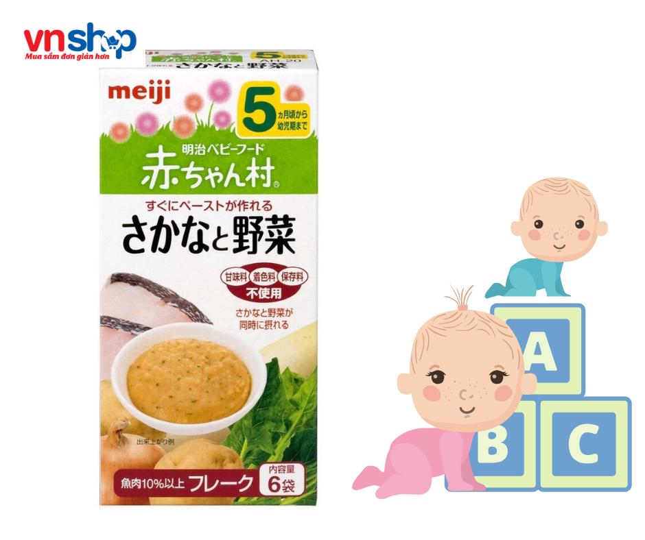 Bột ăn dặm Meiji của Nhật