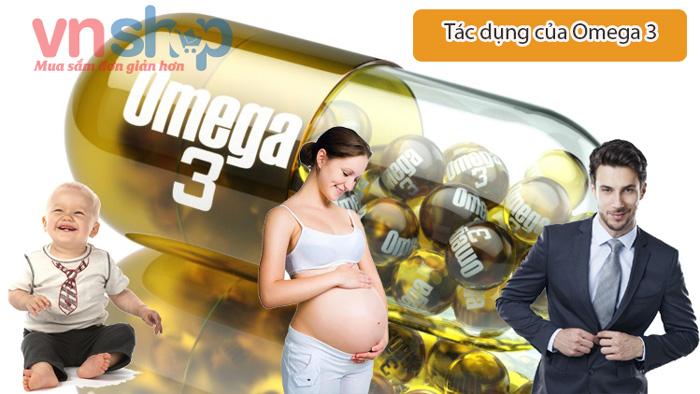 Tác dụng của Omega 3 đối với cơ thể