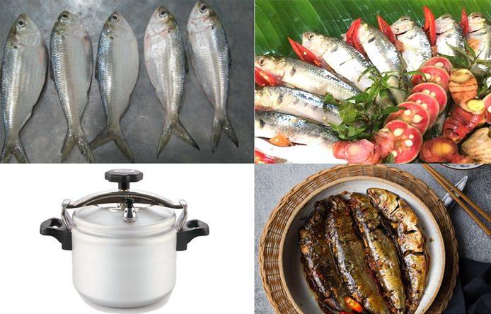 3 cách kho cá mòi bằng nồi áp suất ngon bá cháy