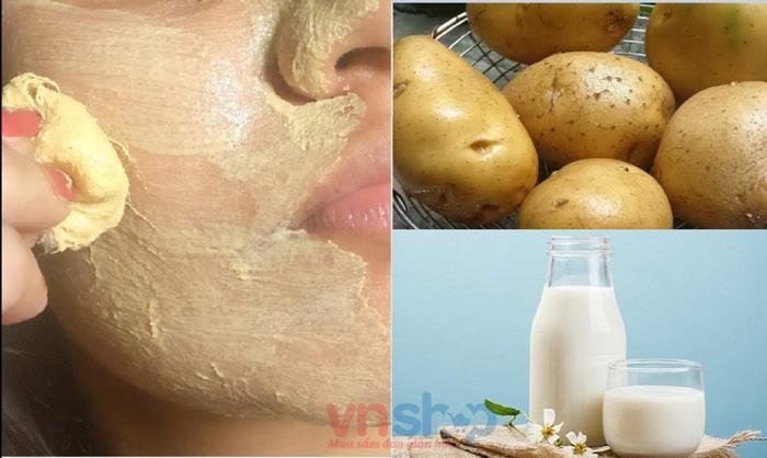 Mặt nạ sữa tươi không đường khoai tây