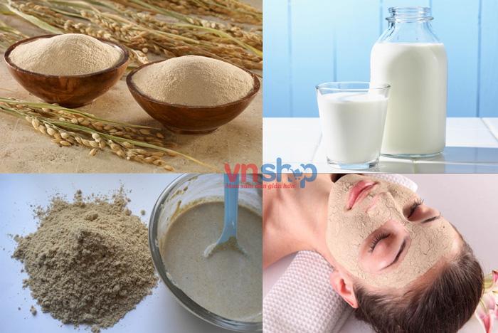 Mặt nạ cám gạo sữa tươi không đường