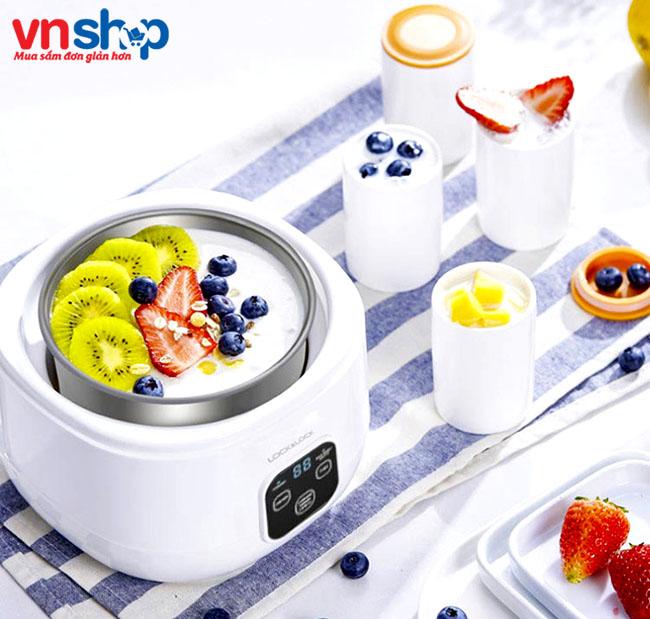 Máy làm sữa chua Lock&Lock EJY211 với thiết kế hiện đại dễ dàng sử dụng