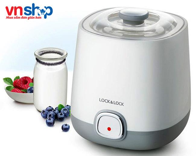 Máy làm sữa chua Lock&Lock EJY110SLV với thiết kế đẹp mắt tiện lợi sử dụng