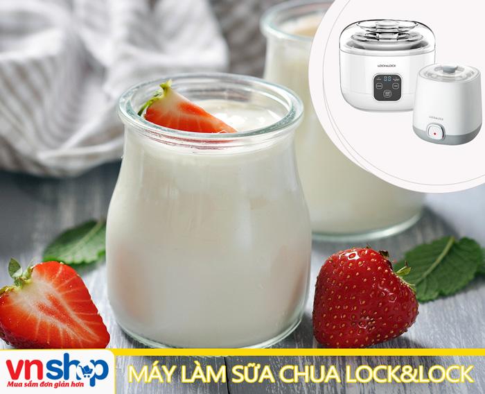 Máy làm sữa chua Lock&Lock với thiết kế sang trọng hài hòa