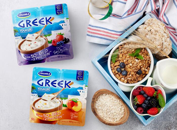 Sữa chua Hy Lạp Vinamilk với hương vị thơm ngon đặc biệt