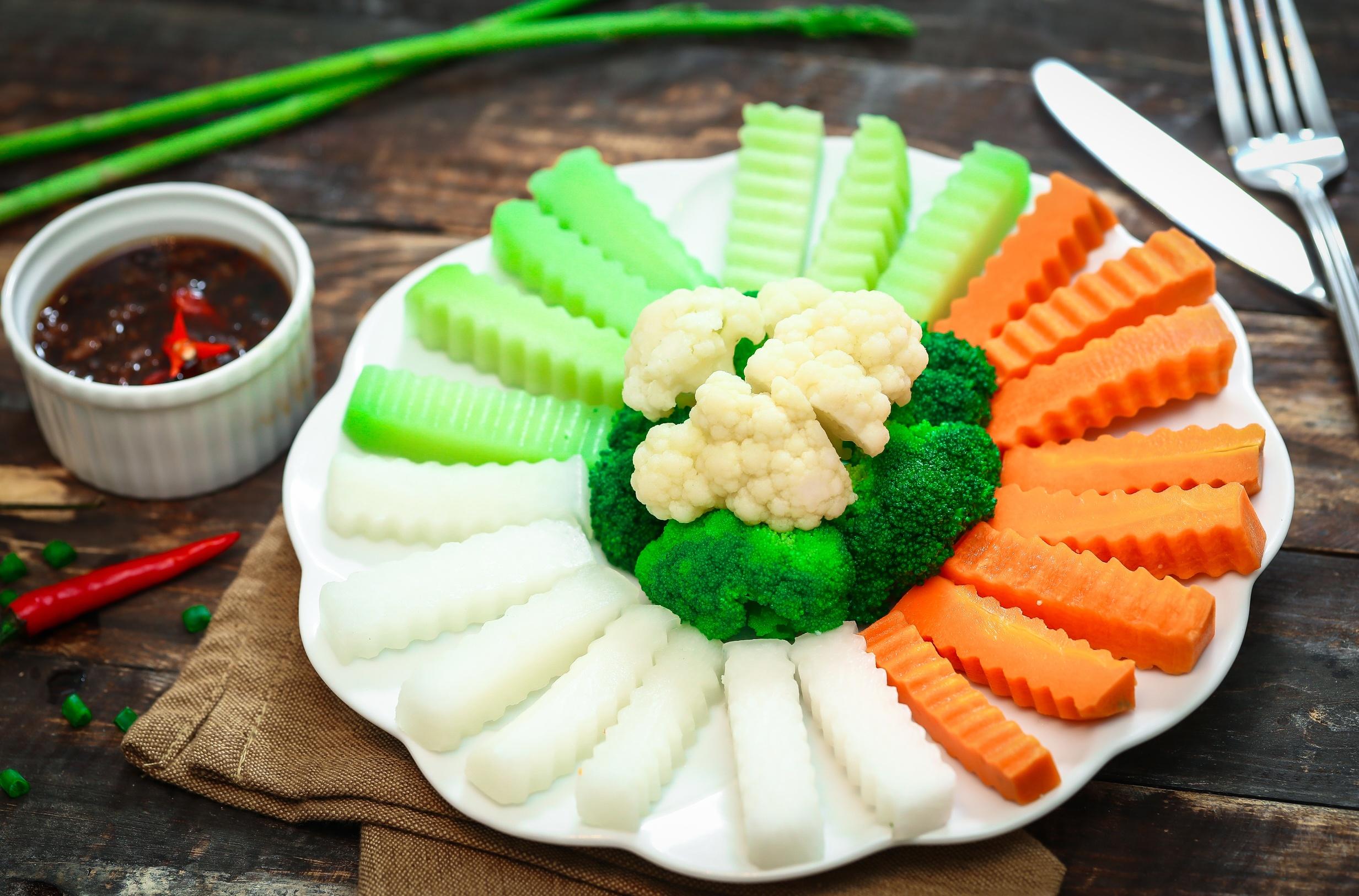 món ăn chay giảm cân - rau củ luộc