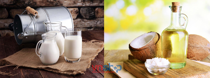 Mặt nạ sữa tươi dầu dừa