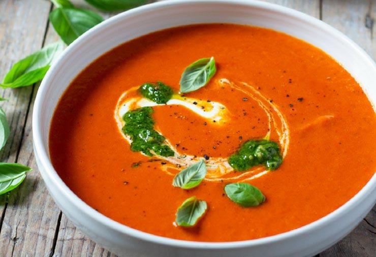 súp cà chua và ớt đỏ bằng nồi instant pot