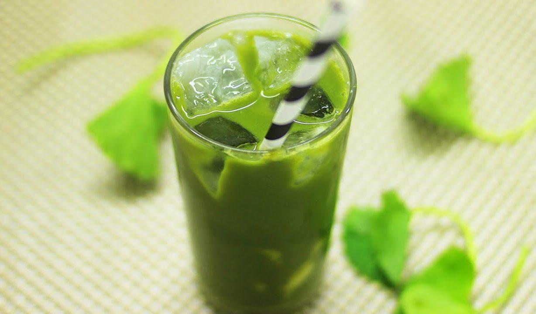 thức uống giải nhiệt mùa hè - sinh tố rau má