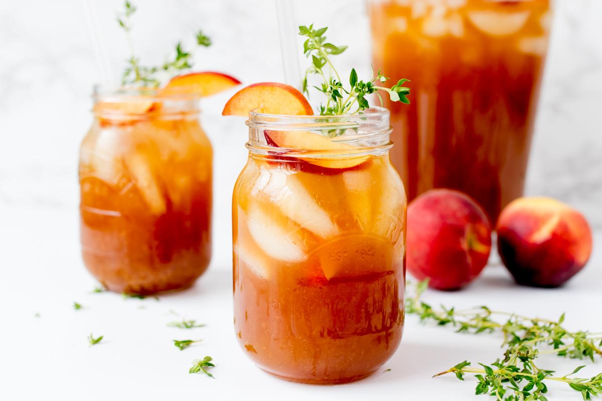 thức uống giải nhiệt mùa hè - trà đào chanh xả