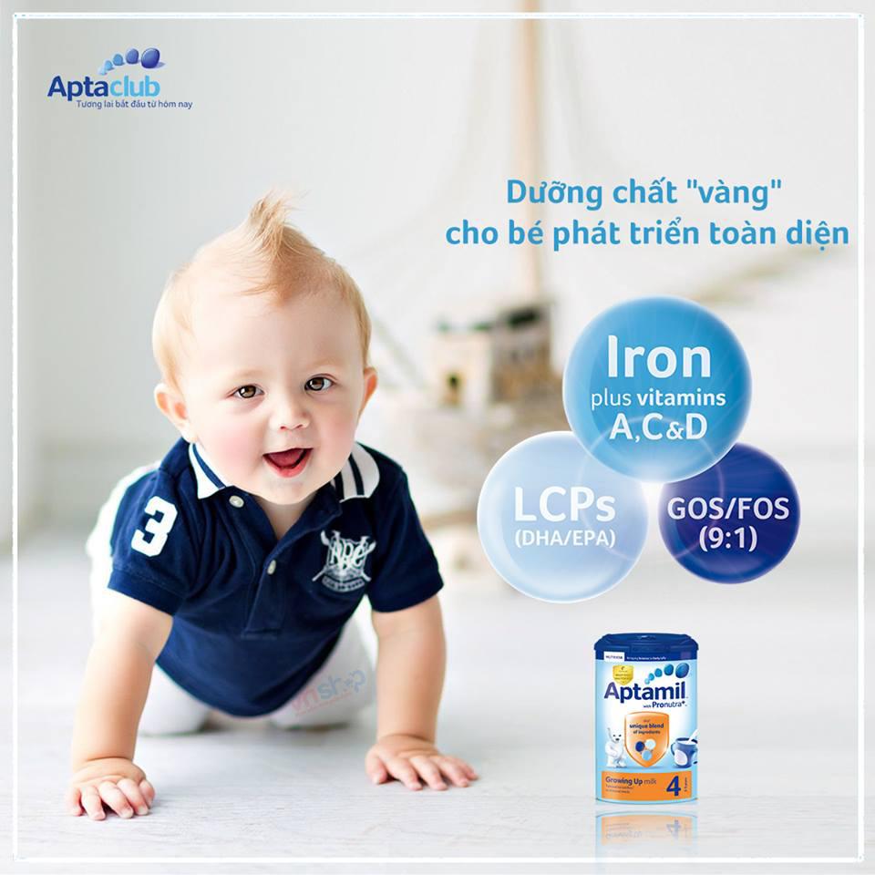 Sữa Aptamil có tăng cân tốt không và những điều cần biết về Aptamil-4