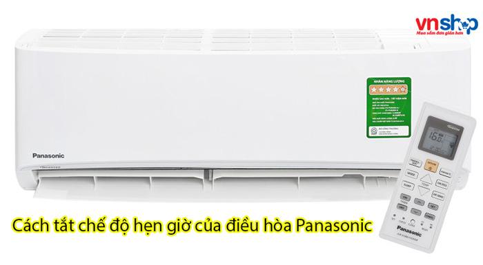 Cách tắt chế độ hẹn giờ của điều hòa Panasonic