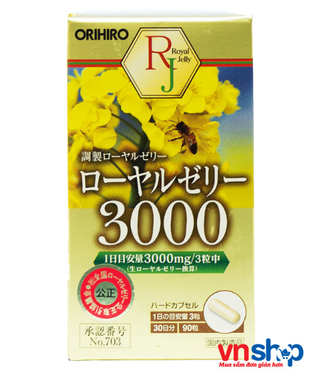 Sữa ong chúa Nhật Bản Orihiro 3000mg