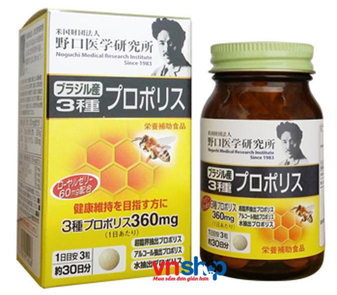 Viên Uống Keo Ong Kết Hợp Sữa Ong Chúa Nhật Propolis Noguchi