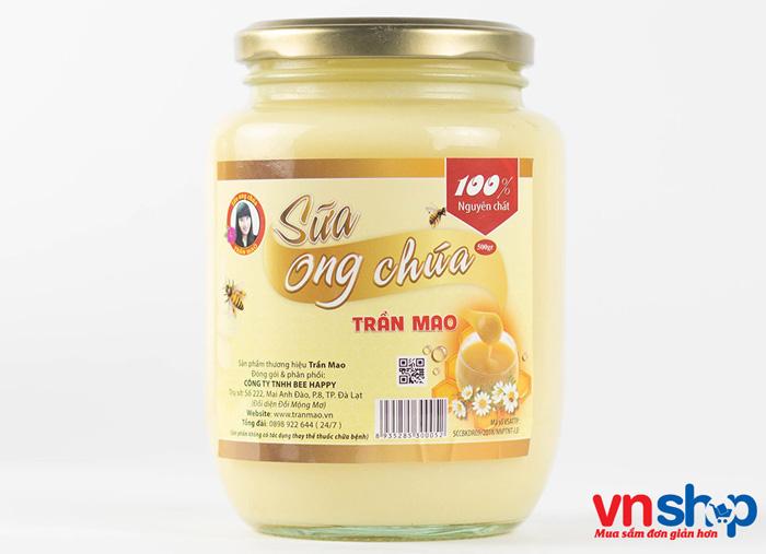 Sữa ong chúa tươi nguyên chất đóng lọ 500gr