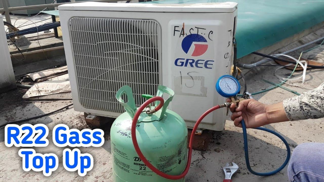 Điều hòa chạy không ra nước- gas R22