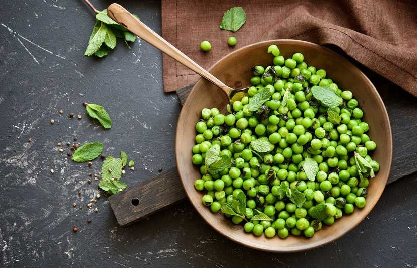dưỡng chất tự nhiên trong green pea